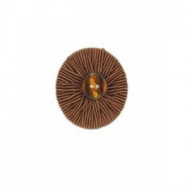 Glowing Ribbed Button   Copper by Robert Allen