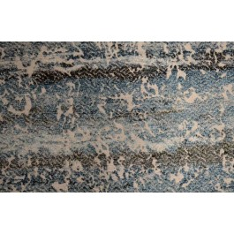 Cyrano Ocean Blue Ivory Modern Watercolor Chenille Upholstery Richloom Fabric