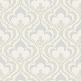 2535-20600 Lola Grey Ogee Bargello Wallpaper