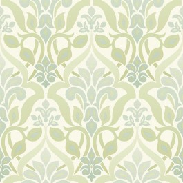 2535-20643 Fusion Green Ombre Damask Wallpaper
