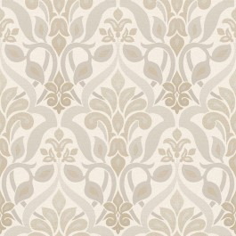 2535-20644 Fusion Grey Ombre Damask Wallpaper