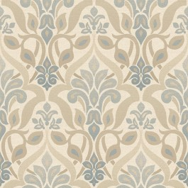 2535-20646 Fusion Blue Ombre Damask Wallpaper