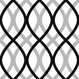 2535-20668 Contour Black Geometric Lattice Wallpaper