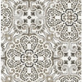 2540-24045 Florentine Grey Tile Wallpaper