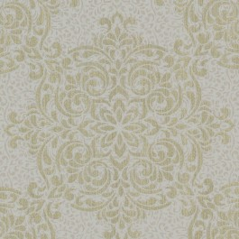 2603-20902 Gabrielle Gold Lace Feature Wallpaper