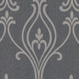 2603-20923 Luca Charcoal Damask Wallpaper