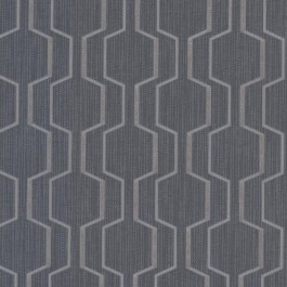 2603-20926 Harrison Charcoal Rectangular Geo Wallpaper