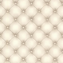 2604-21233 Chesterfield Off-White Tufted Leather Wallpaper