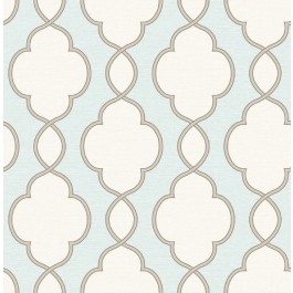 2625-21818 Structure Turquoise Chain Link  Wallpaper
