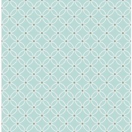 2625-21839 Kinetic Turquoise Geometric Floral Wallpaper