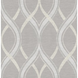 2625-21850 Frequency Grey Ogee Wallpaper
