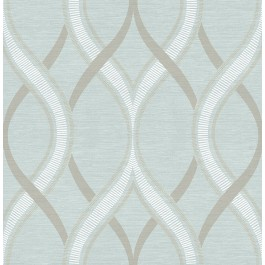 2625-21851 Frequency Turquoise Ogee Wallpaper