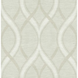 2625-21853 Frequency Green Ogee Wallpaper
