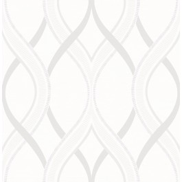 2625-21854 Frequency Cream Ogee Wallpaper