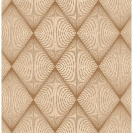 2662-001904 Enlightenment  Brown Diamond Geometric Wallpaper