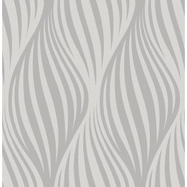 2662-001956 Distinction Charcoal Ogee Wallpaper