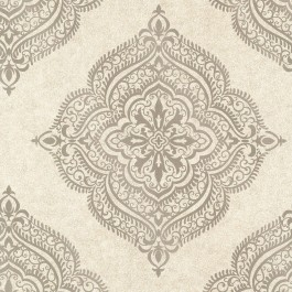2665-21404 Capella Flax Medallion Wallpaper