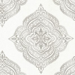 2665-21407 Capella Cream Medallion Wallpaper