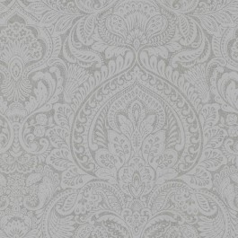 2665-21409 Alistair Pewter Damask Wallpaper