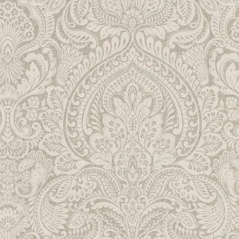 2665-21413 Alistair Flax Damask Wallpaper