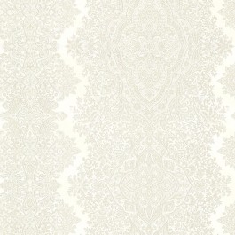 2665-21431 Benedict Cream Ornate Paisley Stripe Wallpaper