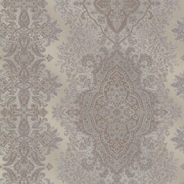 2665-21433 Benedict Pewter Ornate Paisley Stripe Wallpaper