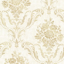 2665-21442 Manor Cream Floral Damask Wallpaper