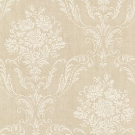2665-21445 Manor Beige Floral Damask Wallpaper