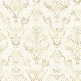 2665-21447 Wiley Cream Lace Damask Wallpaper