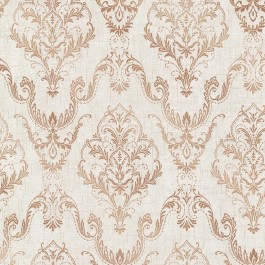 2665-21448 Wiley Copper Lace Damask Wallpaper