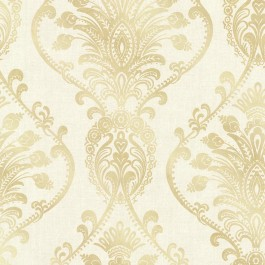 2665-21456 Noble Cream Ornate Damask Wallpaper