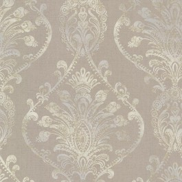 2665-21458 Noble Taupe Ornate Damask Wallpaper