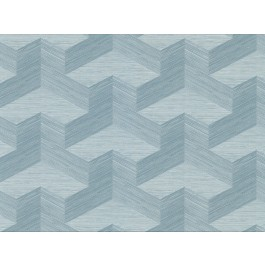 2829-82063 Y Knot Turquoise Geometric Texture Wallpaper | The Fabric Co
