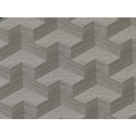 2829-82067 Y Knot Grey Geometric Texture Wallpaper | The Fabric Co