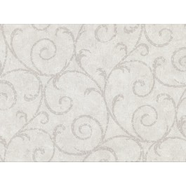 2830-2734 Sansa Light Grey Plaster Scroll Wallpaper | The Fabric Co