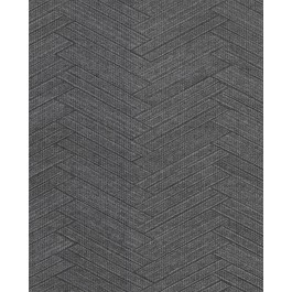 2830-2760 Karma Charcoal Herringhone Weave Wallpaper | The Fabric Co