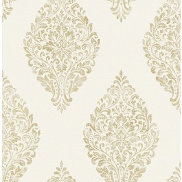 2834-25042 Pascale Off-white Medallion Wallpaper | The Fabric Co