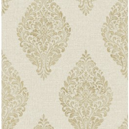 2834-25043 Pascale Gold Medallion Wallpaper | The Fabric Co
