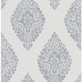2834-25044 Pascale Light Grey Medallion Wallpaper | The Fabric Co
