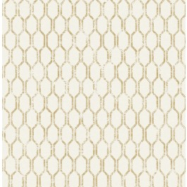 2834-25046 Elodie Gold Geometric Wallpaper | The Fabric Co