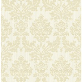 2834-25058 Piers Cream Texture Damask Wallpaper   The Fabric Co