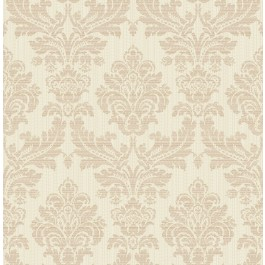 2834-25060 Piers Rose Gold Texture Damask Wallpaper | The Fabric Co