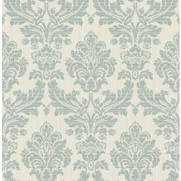 2834-25061 Piers Teal Texture Damask Wallpaper | The Fabric Co