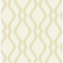2834-25063 Yves Champagne Ogee Wallpaper | The Fabric Co