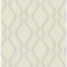 2834-25064 Yves Multicolor Ogee Wallpaper | The Fabric Co