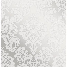 2834-42238 Margot Silver Damask Wallpaper | The Fabric Co