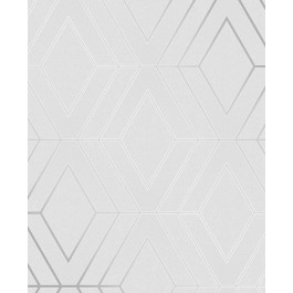 2834-42340 Adaline Light Grey Geometric Wallpaper | The Fabric Co