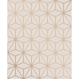2834-42346 Augustin Rose Gold Geometric Wallpaper | The Fabric Co
