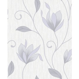 2834-M0852 Anais Grey Floral Trails Wallpaper | The Fabric Co