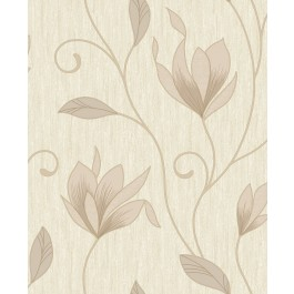 2834-M0868 Anais Cream Floral Trails Wallpaper | The Fabric Co
